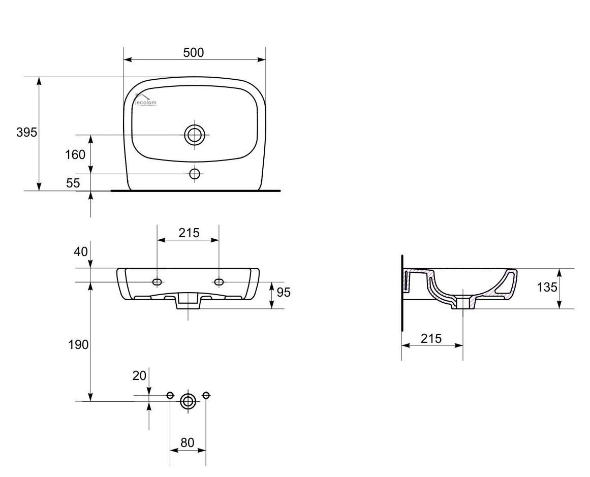 badm bel waschbecken 50 cm waschtisch waschbeckenunterschrank wei h ngend i f 5902574424259 ebay. Black Bedroom Furniture Sets. Home Design Ideas