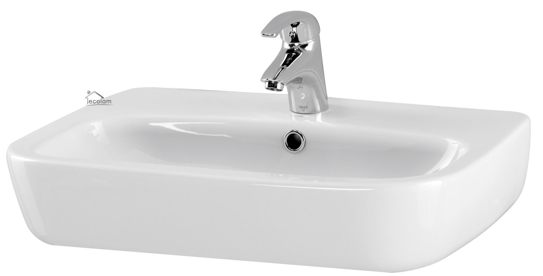 badm bel waschbecken 55 cm waschtisch waschbeckenunterschrank wei h ngend i f ebay. Black Bedroom Furniture Sets. Home Design Ideas