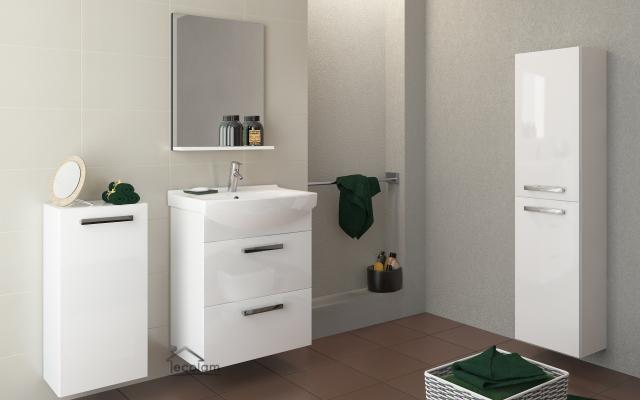 badmöbel set 3 schränke + waschbecken 60 cm hängend schubladen, Wohnzimmer dekoo