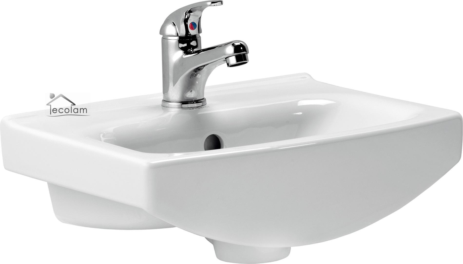 badm bel waschbecken 40 cm waschtisch waschbeckenunterschrank wei cersanit c o ebay. Black Bedroom Furniture Sets. Home Design Ideas