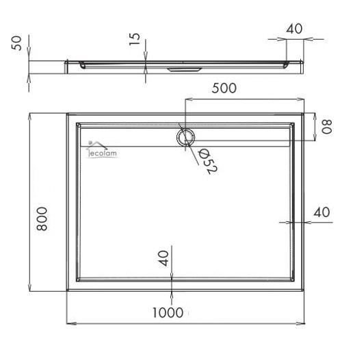 duschwanne duschtasse rechteck high quality 80 x 100 90 x 120 flach abdeckung a ebay. Black Bedroom Furniture Sets. Home Design Ideas