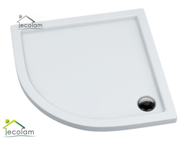 duschwanne duschtasse viertelkreis barrierefrei 90x90 x 5 5 cm r 55 flach casp ebay. Black Bedroom Furniture Sets. Home Design Ideas