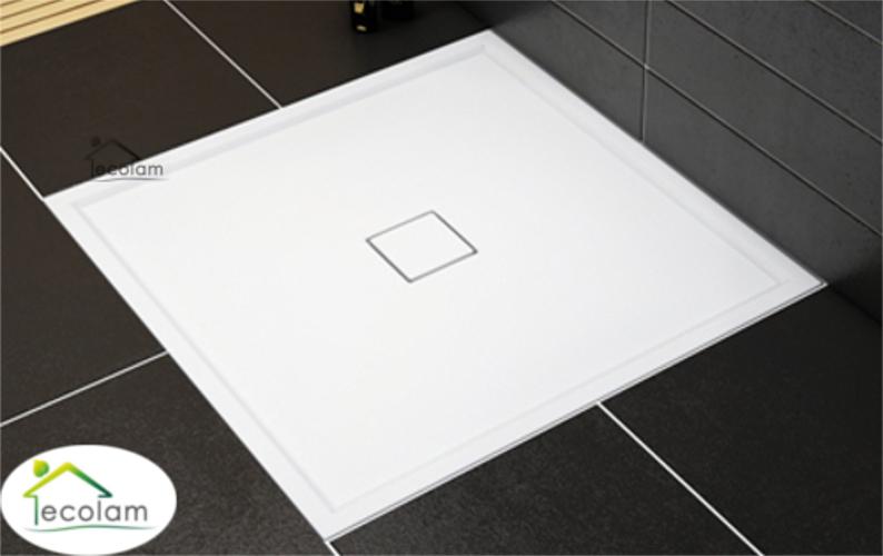 duschwanne duschtasse viereck high quality 90x90x5x1 5 cm flach ablauf mittig ebay