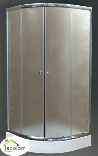 duschkabine dusche viertelkreis echtglas strukturiert 80 x 80 x 180 cm invena ebay. Black Bedroom Furniture Sets. Home Design Ideas