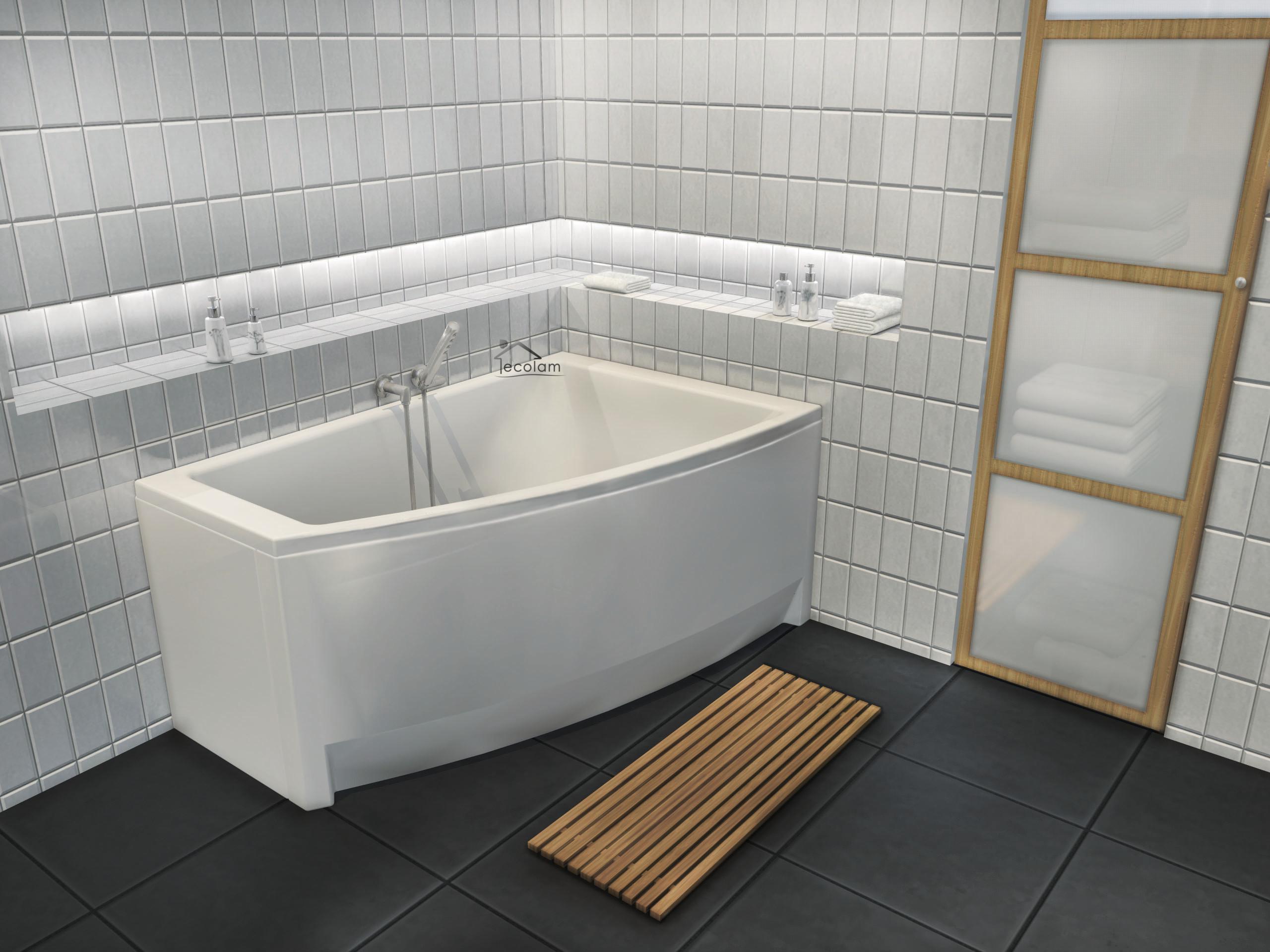 badewanne wanne eckbadewanne acryl 150x 90 cm f e sch rze. Black Bedroom Furniture Sets. Home Design Ideas
