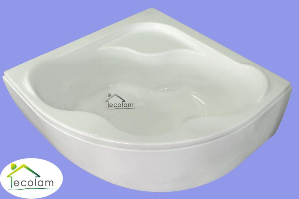 badewanne eckbadewanne 150x150 cm silikon mit ohne sch rze acryl symmetrisch s ebay. Black Bedroom Furniture Sets. Home Design Ideas