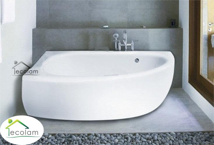 badewanne eckbadewanne 150 x 70 cm sch rze ablauf f e silikon links milena 5902574416025 ebay. Black Bedroom Furniture Sets. Home Design Ideas