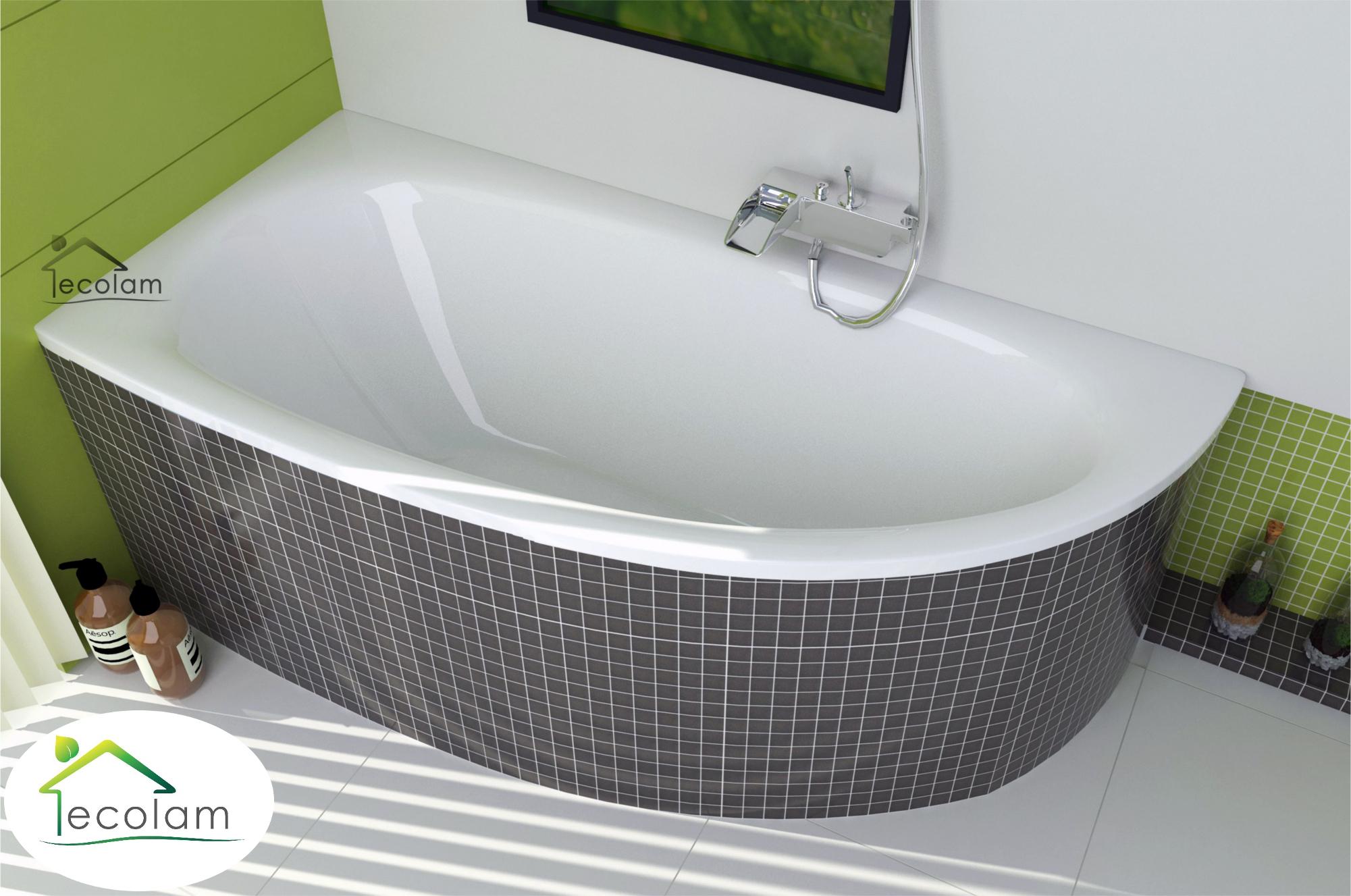 badewanne eckbadewanne acryl ablauf 150 x 70 cm ohne mit wannentr ger links m ebay. Black Bedroom Furniture Sets. Home Design Ideas