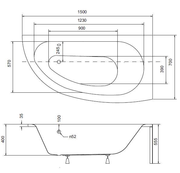 badewanne eckbadewanne acryl 150 x 70 cm wannentr ger ablauf silikon rechts m 5902574449177 ebay. Black Bedroom Furniture Sets. Home Design Ideas