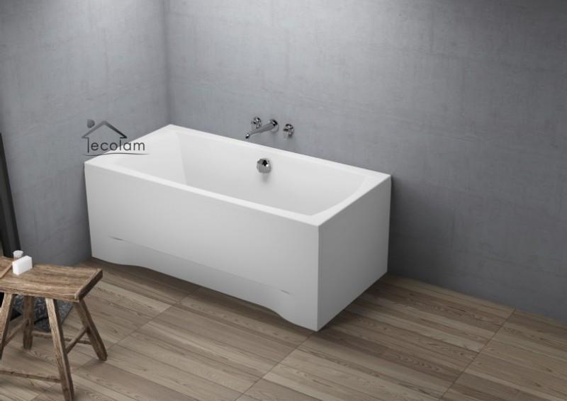 badewanne wanne rechteck 150 x 70 cm sch rze ablauf mitte silikon acryl f e ebay. Black Bedroom Furniture Sets. Home Design Ideas