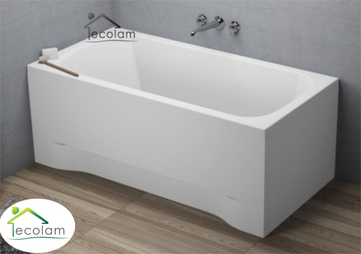 badewanne wanne rechteck eckwanne 170 x 70 cm ohne mit sch rze acryl ablauf ebay. Black Bedroom Furniture Sets. Home Design Ideas