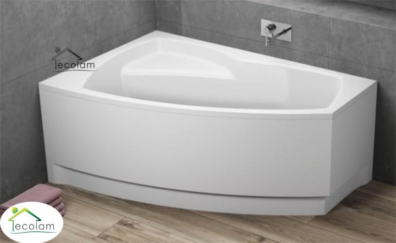 badewanne eckbadewanne 150 x 100 cm ohne mit sch rze ablauf acryl links ebay. Black Bedroom Furniture Sets. Home Design Ideas