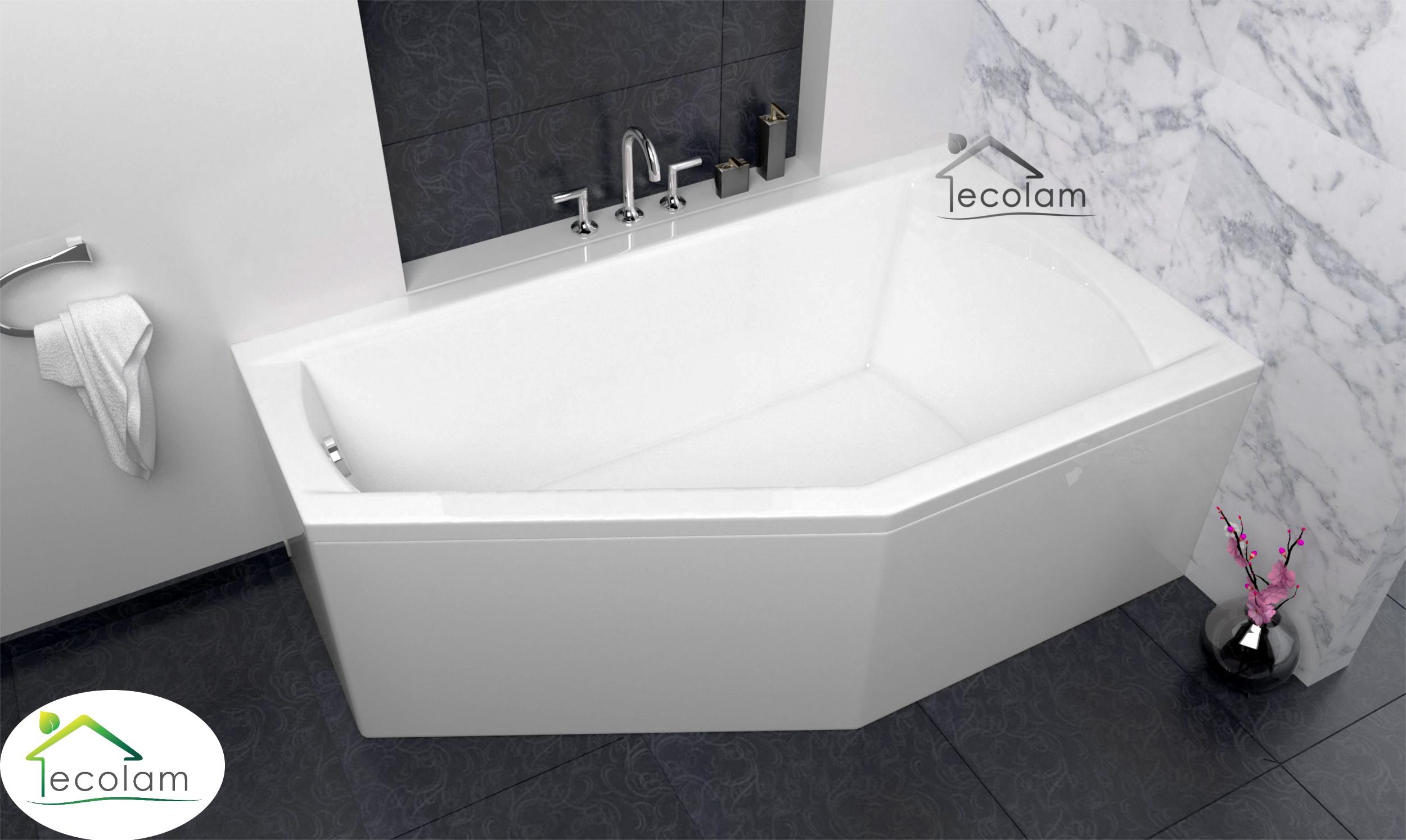badewanne eckbadewanne acryl 160 x 90 cm sch rze ablauf. Black Bedroom Furniture Sets. Home Design Ideas