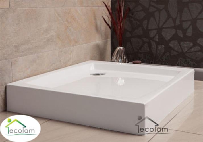 duschwanne duschtasse viereck 80 x 80 x 5 x 16 cm ablauf silikon dusche patio ebay. Black Bedroom Furniture Sets. Home Design Ideas