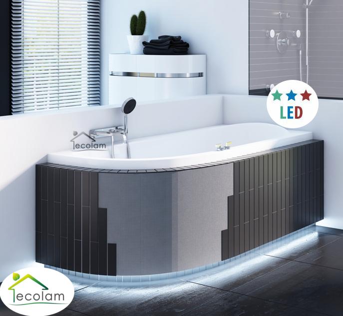 led styroporverkleidung f r eckbadewannen mit ablage verkleidung befliesbar bad 5902574413598. Black Bedroom Furniture Sets. Home Design Ideas