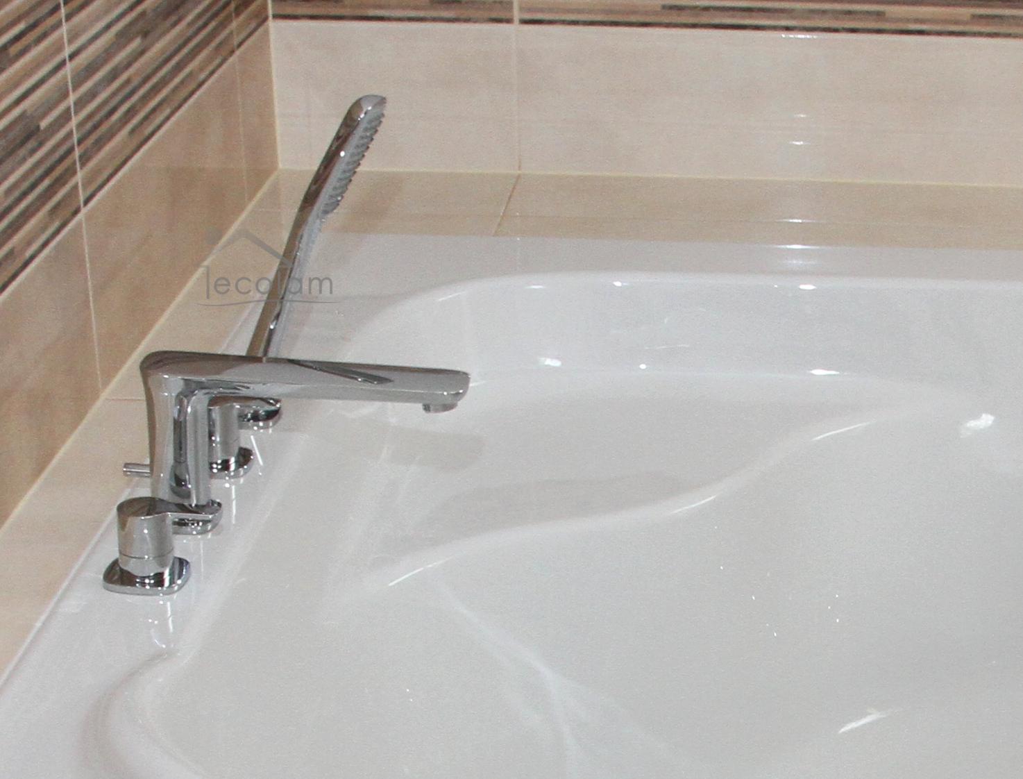 set badewannenarmatur handbrause badewanne auslauf wannenrand armatur 4 loch h ebay. Black Bedroom Furniture Sets. Home Design Ideas