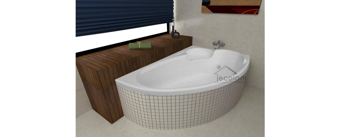 badewanne eckbadewanne 140x95 155x95 170 x 110cm sch rze ablauf acryl rechts ebay. Black Bedroom Furniture Sets. Home Design Ideas