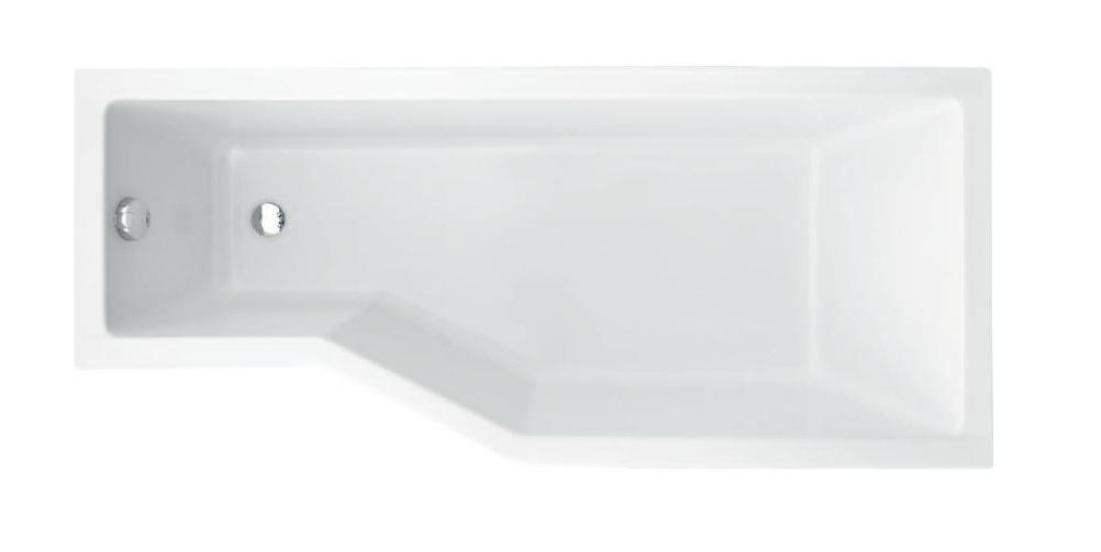Badewanne Wanne Eckwanne eckig Rechteck 150x75 170x75 cm Ablauf Silikon rechts