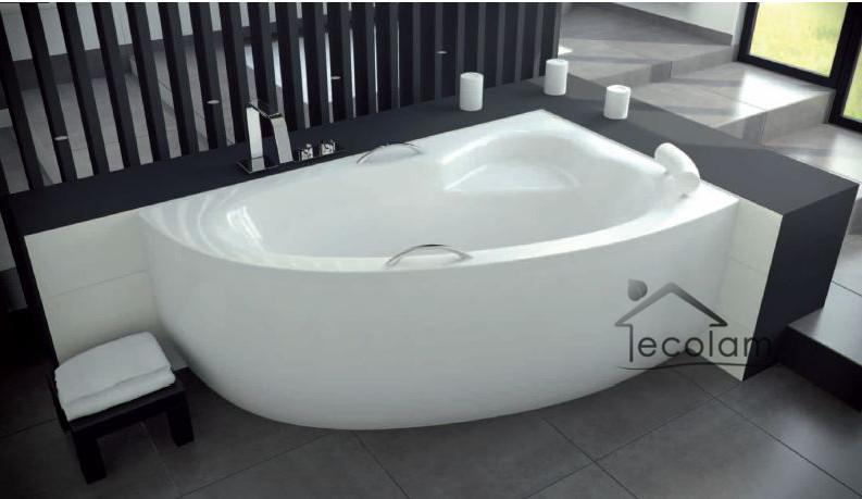 badewanne eckwanne 150x100 cm sch rze handgriff kopfst tze. Black Bedroom Furniture Sets. Home Design Ideas