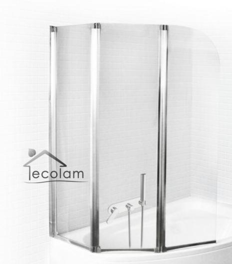 badewanne rechteck badewannenabtrennung duschwand 140 x 70. Black Bedroom Furniture Sets. Home Design Ideas