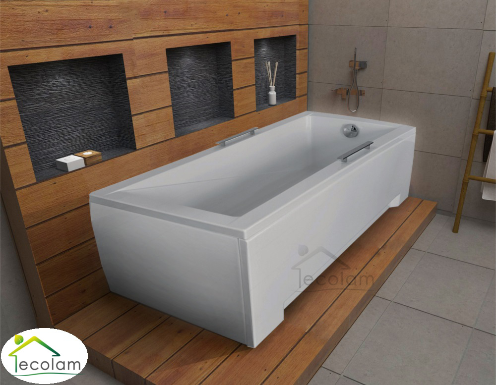 badewanne wanne rechteck 170 x 70 cm ohne mit handgriffe sch rze ablauf silikon ebay. Black Bedroom Furniture Sets. Home Design Ideas