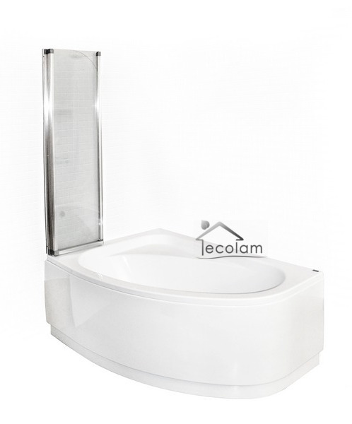 Badewanne  Badewannenabtrennung Duschwand Glas Eckwanne  140x80 LINKS GRATIS