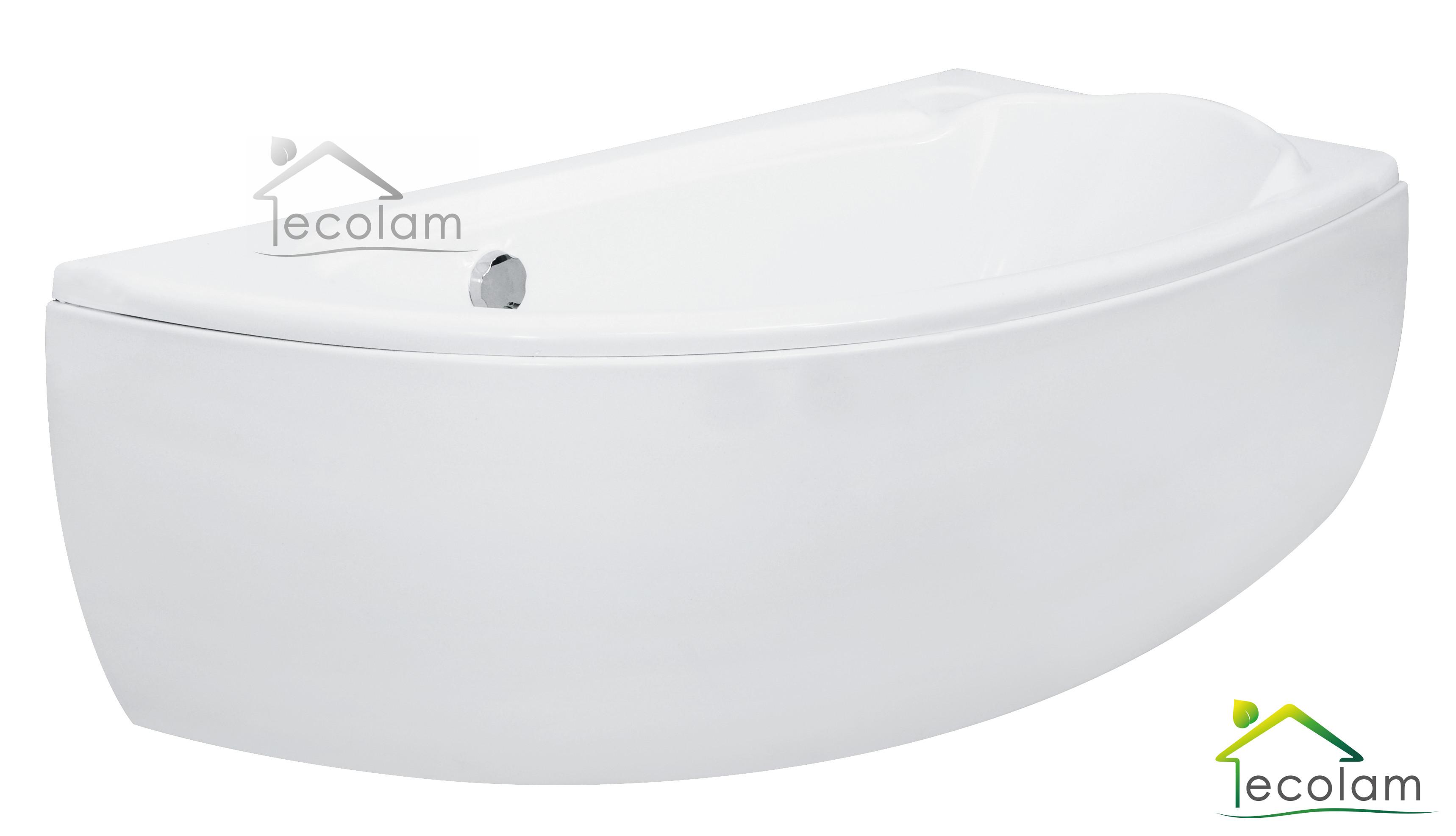 badewanne eckwanne acryl 150 x 70 cm sch rze ablaufgarnitur silikon rechts m ebay. Black Bedroom Furniture Sets. Home Design Ideas