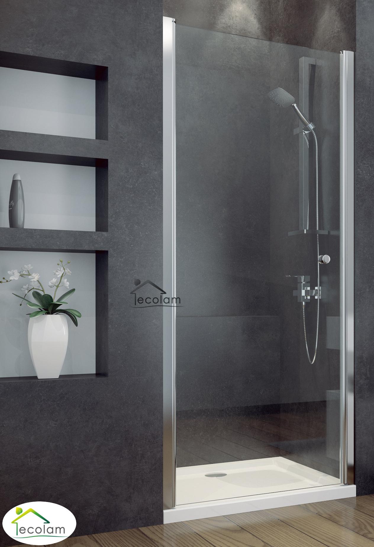 nischent r transparent duscht r duschkabine glas 80 x 195 cm duschwanne 80 x 80 ebay. Black Bedroom Furniture Sets. Home Design Ideas