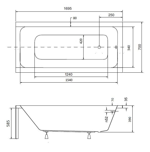 Badewanne 70 breit energiemakeovernop for Holzbadewannen freistehend
