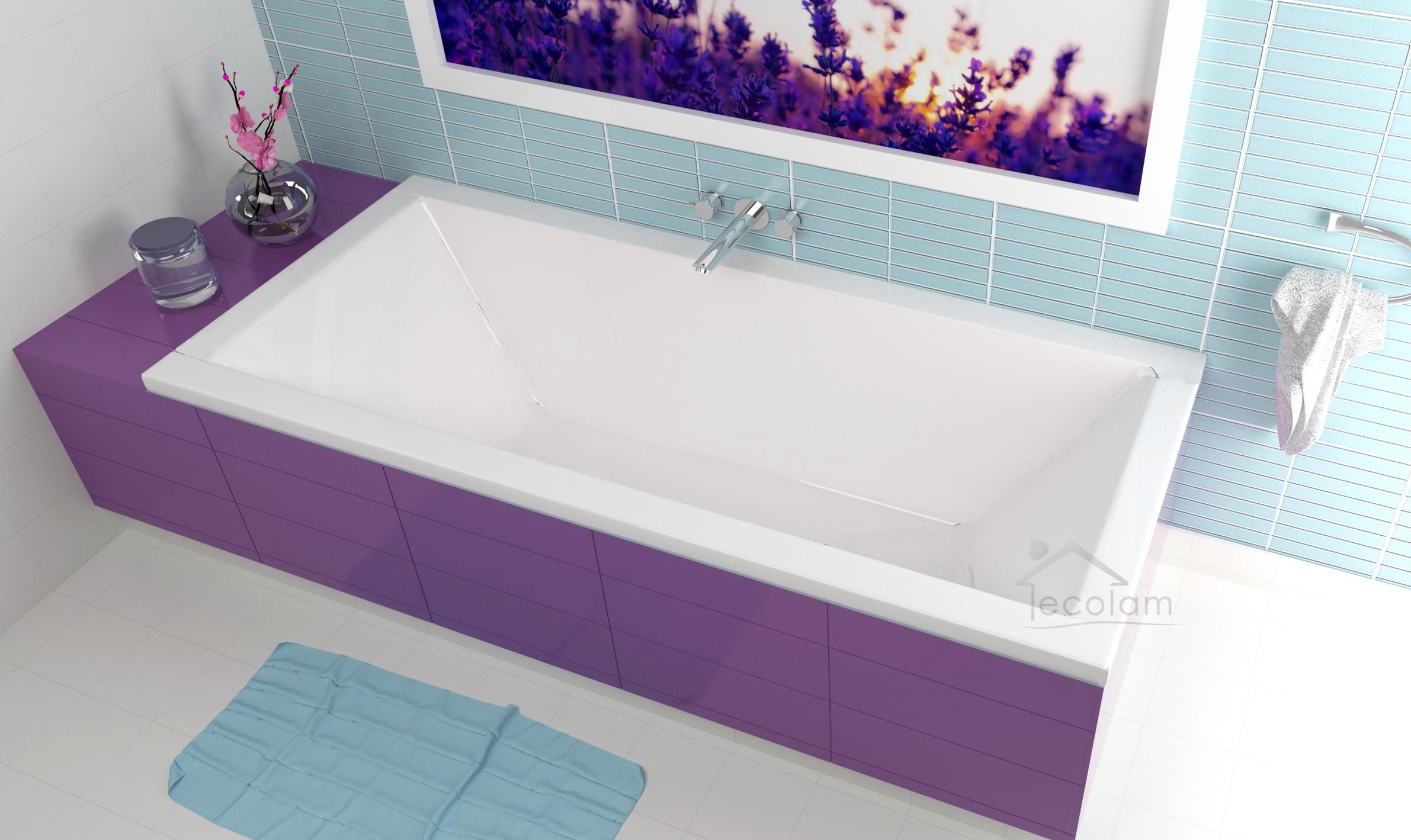 Badewanne Wanne Rechteck 170 x 70 cm Styroporschürze Ab Überlauf Sanplast AS