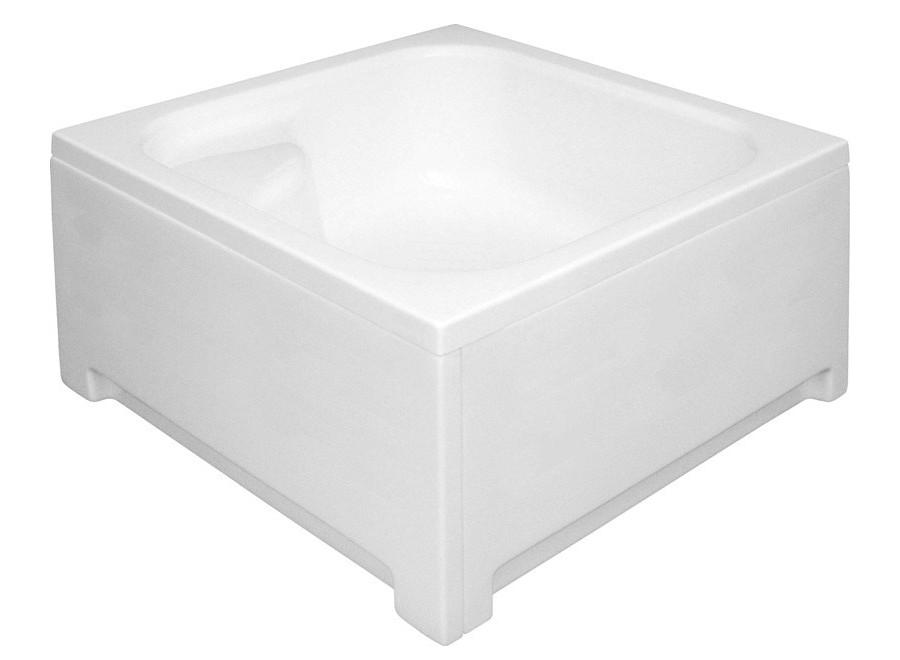 Duschwanne Duschtasse Viereck Sitz 90 x 90 x 43 x 28 cm tief Überlauf Dusche