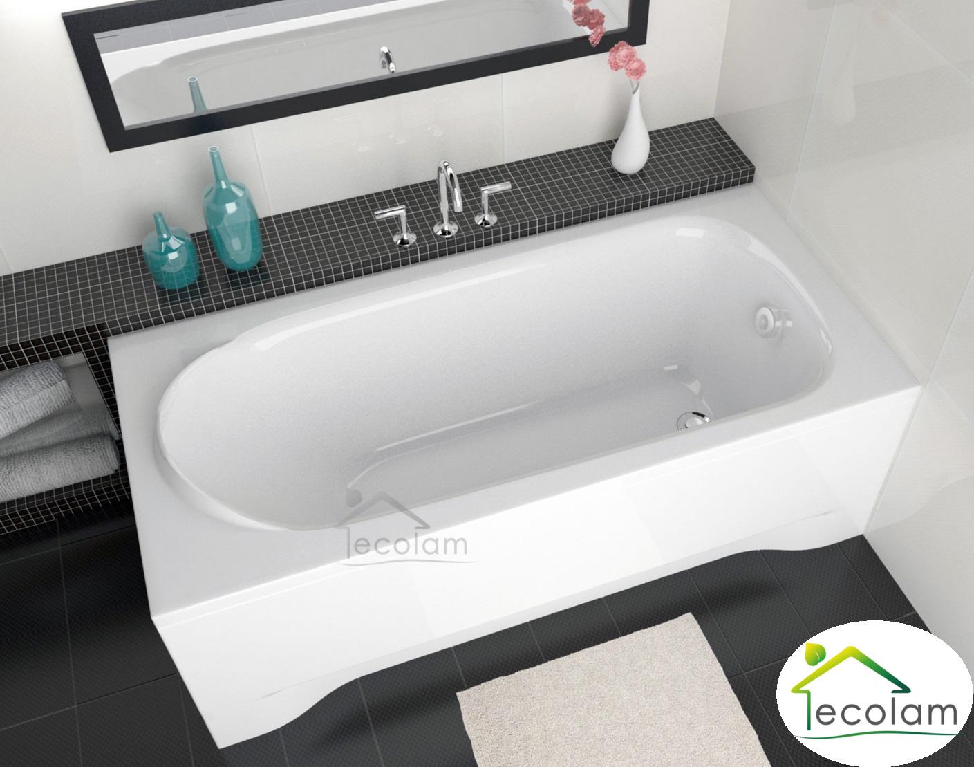 badewanne rechteck eckig 190 x 80 cm acryl f e ablauf. Black Bedroom Furniture Sets. Home Design Ideas