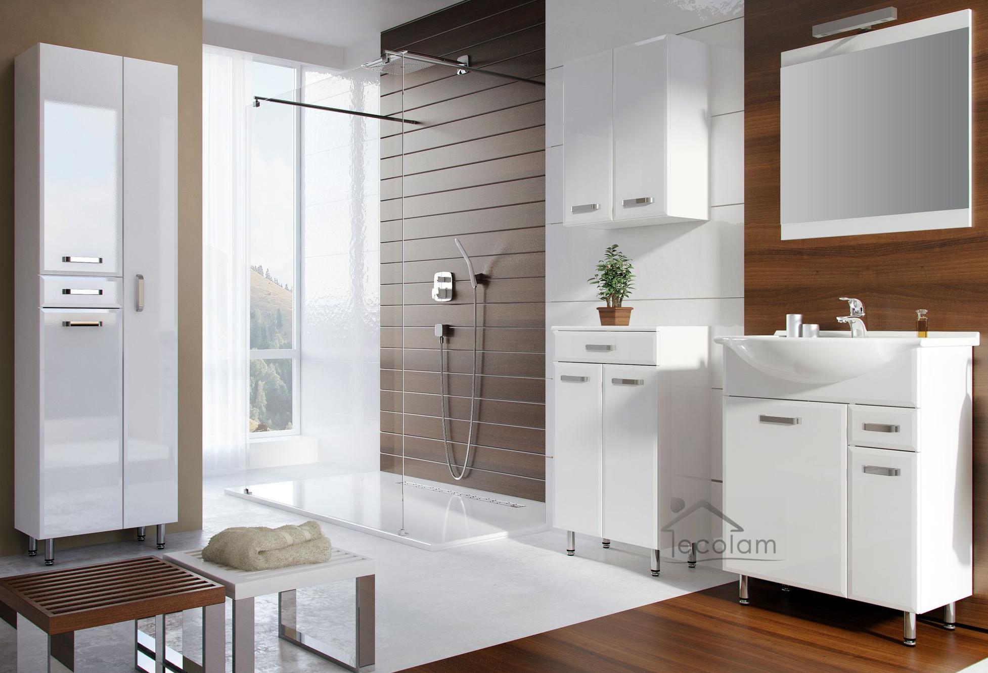 badm bel waschbecken 65 cm waschtisch waschbeckenunterschrank schublade wei 5902574447692 ebay. Black Bedroom Furniture Sets. Home Design Ideas