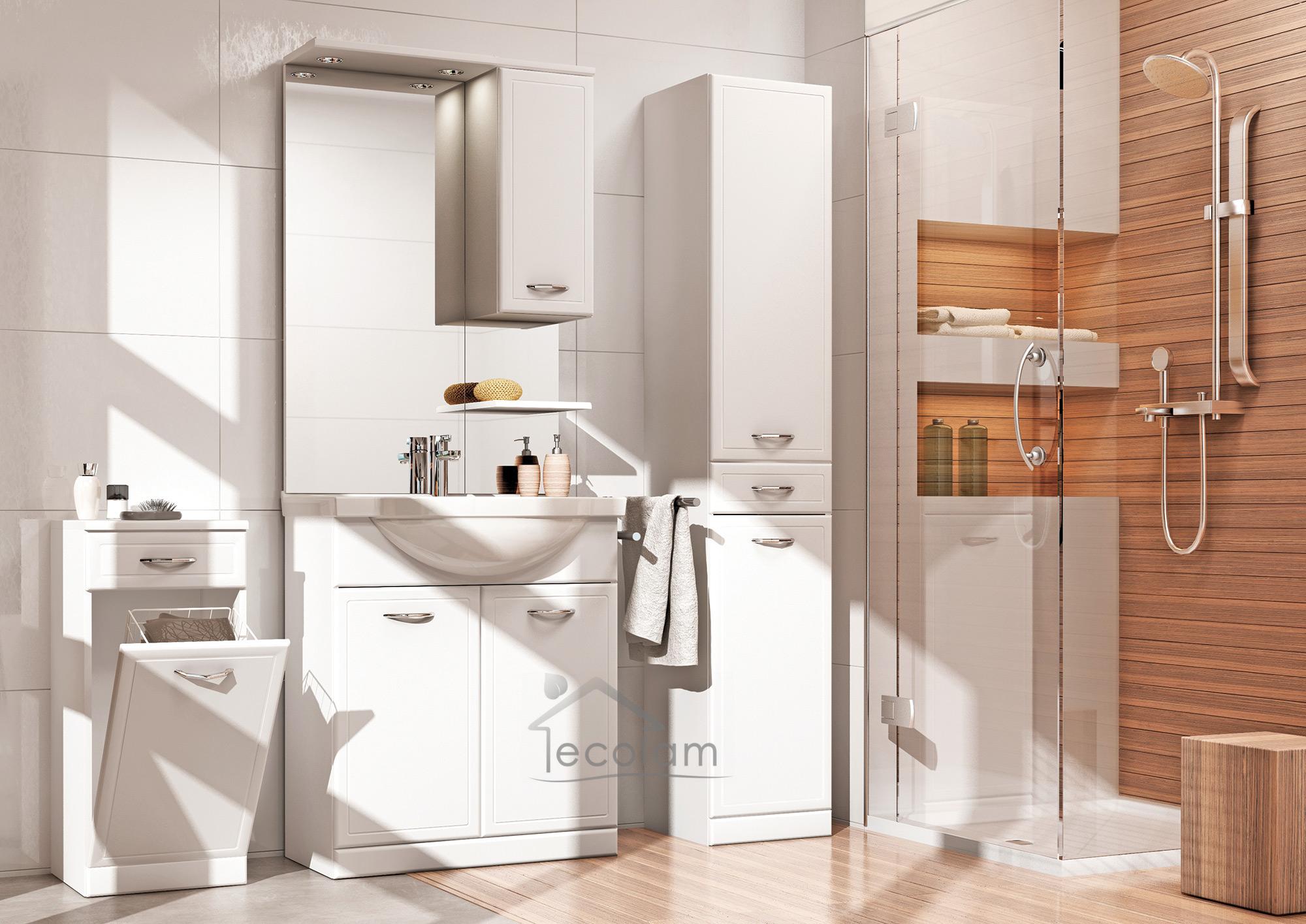 badm bel waschbecken set 55 cm waschtisch unterschrank t ren siphon click clack ebay. Black Bedroom Furniture Sets. Home Design Ideas