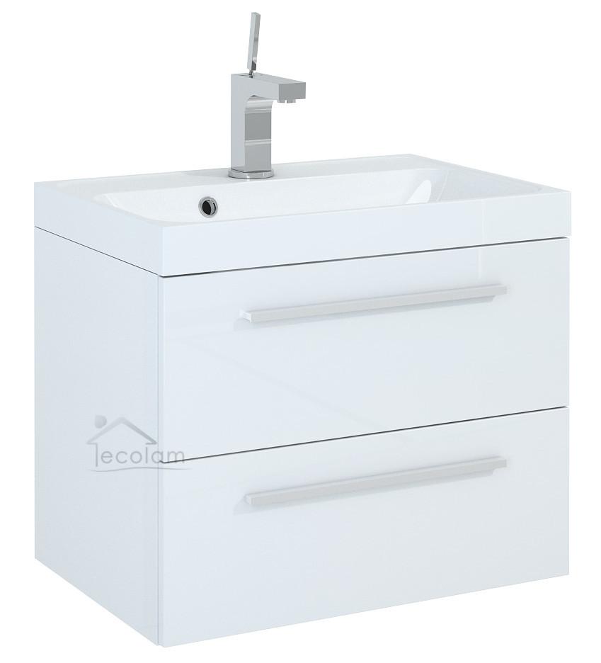 badm bel waschbecken 60 cm waschtisch unterschrank schublade schubladenteiler ak ebay. Black Bedroom Furniture Sets. Home Design Ideas