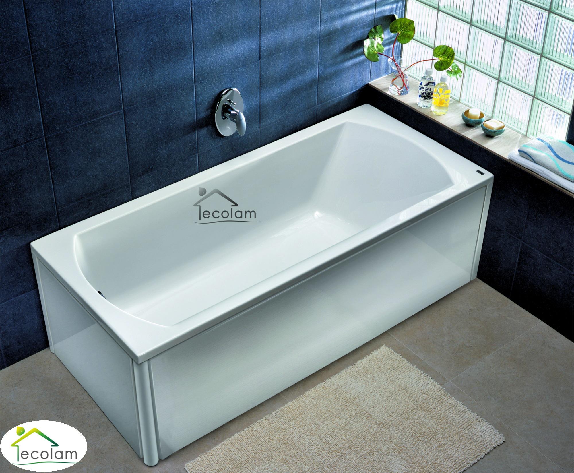 badewanne wanne rechteck 170 x 75 cm sch rze ab berlauf. Black Bedroom Furniture Sets. Home Design Ideas