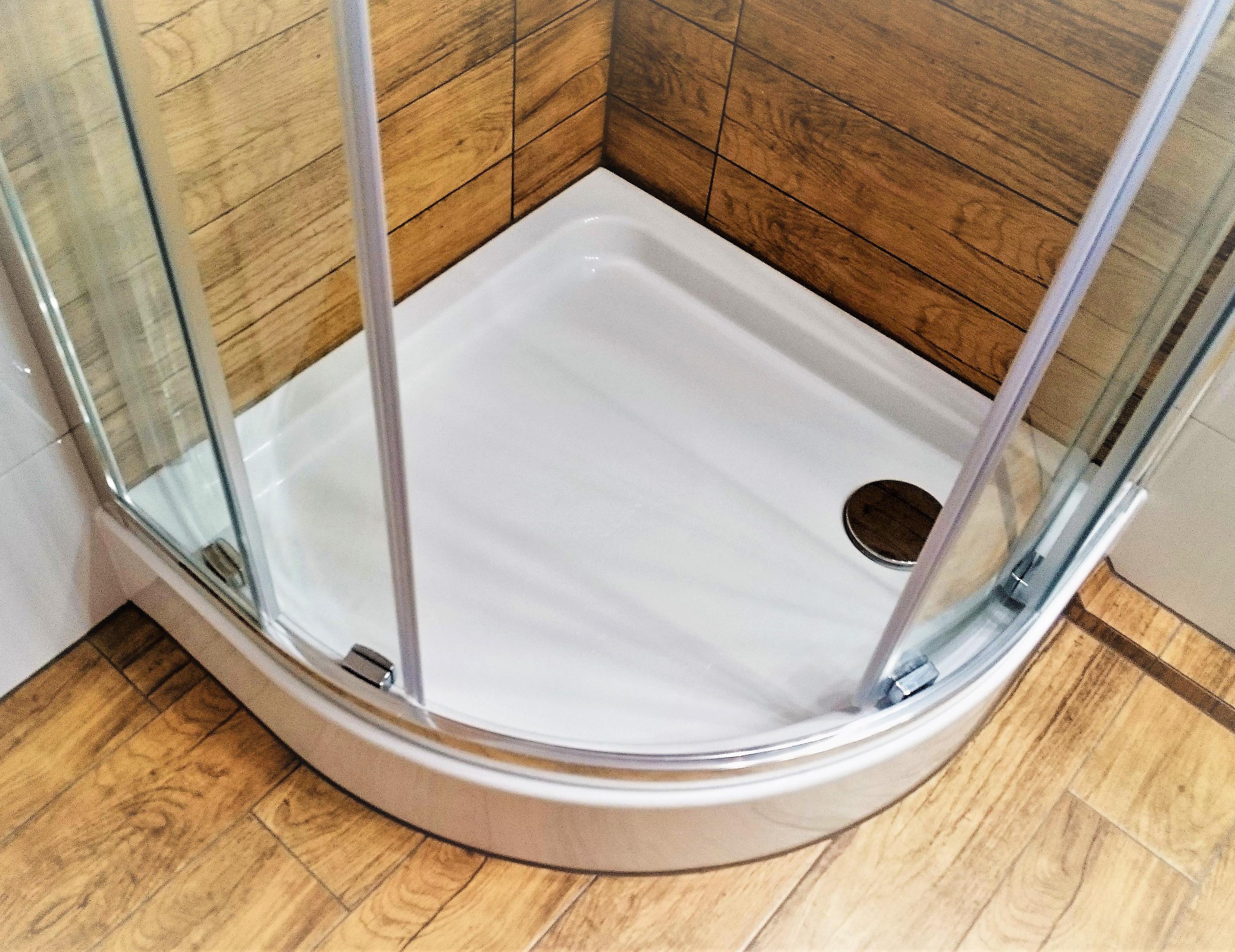 duschwanne duschtasse viertelkreis acryl 90 x 90 x 17 x 7 cm r55 sch rze ablauf ebay. Black Bedroom Furniture Sets. Home Design Ideas
