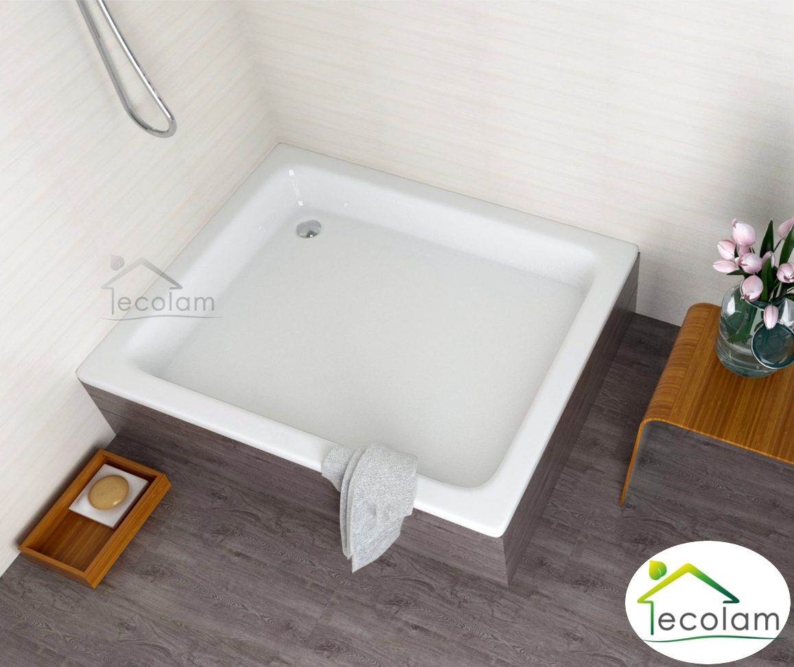 duschwanne duschtasse rechteck 100 x 80 x26 cm zum befliesen befliesbar styropor ebay. Black Bedroom Furniture Sets. Home Design Ideas