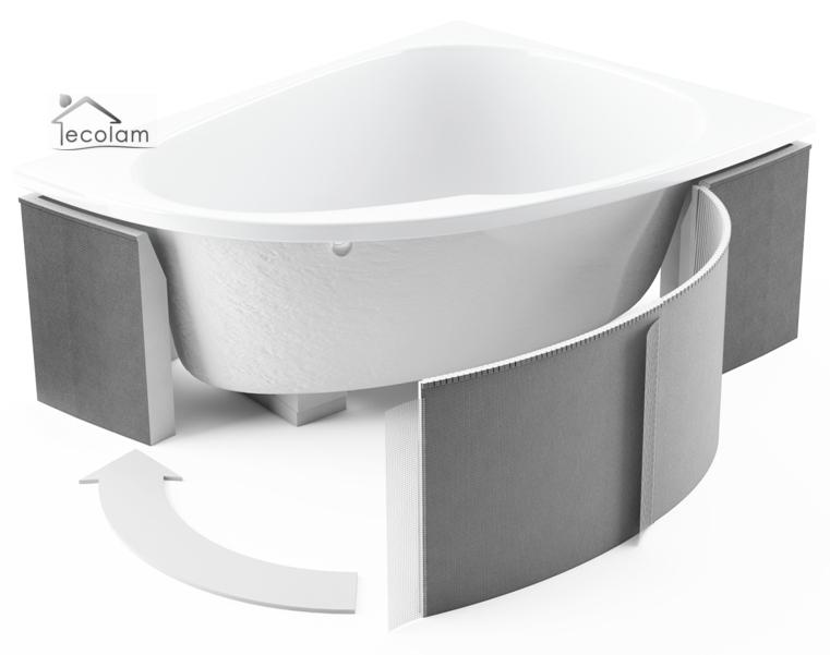 styroportr ger styropor tr ger wannentr ger eckbadewanne 240 x 63 cm universell ebay. Black Bedroom Furniture Sets. Home Design Ideas