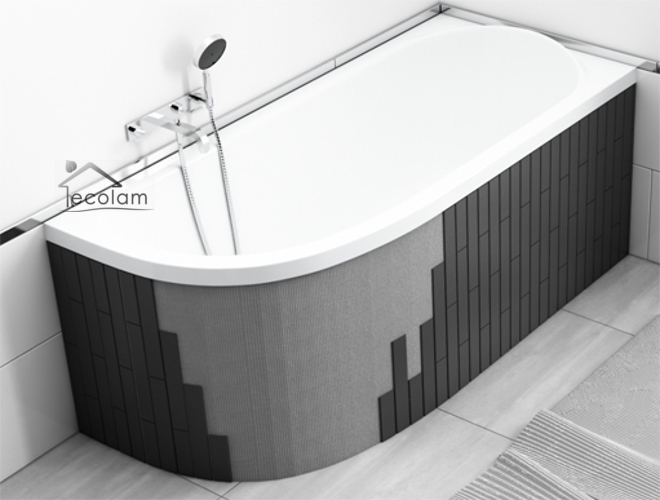 badewanne eckbadewanne 170 x 100 cm acryl styroporverkleidung befliesbar links s ebay. Black Bedroom Furniture Sets. Home Design Ideas